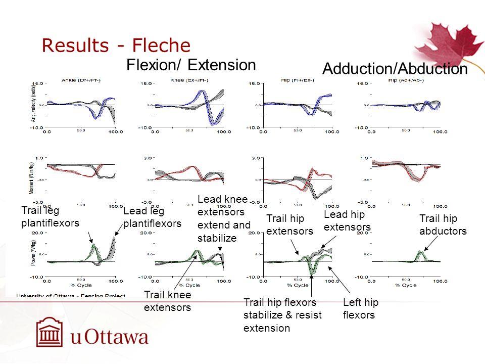 Results - Fleche Flexion/ Extension Adduction/Abduction
