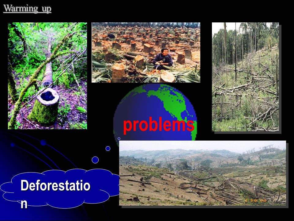Warming up problems Deforestation