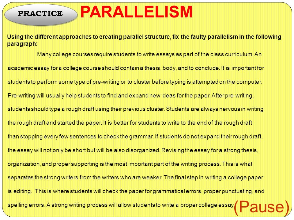 what why and how parallelism ppt video online  6 parallelism