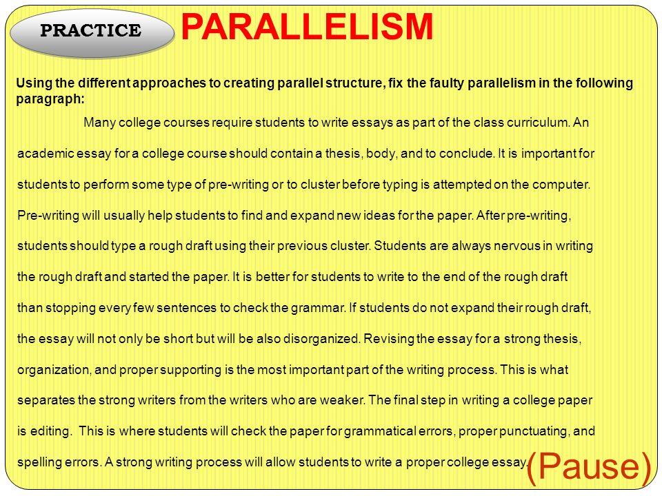 pre written college essay