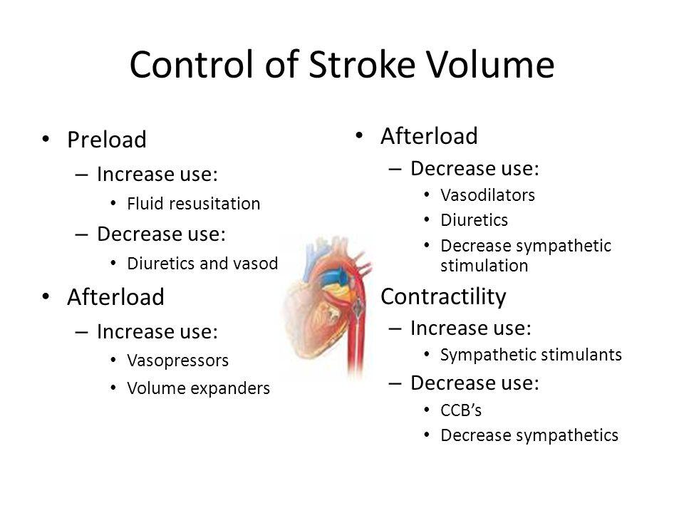 Cardiac Meds Cardiac Output X Stroke Volume Heart Rate