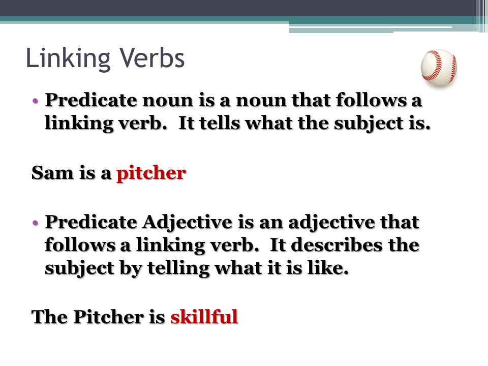 how to use linking verbs