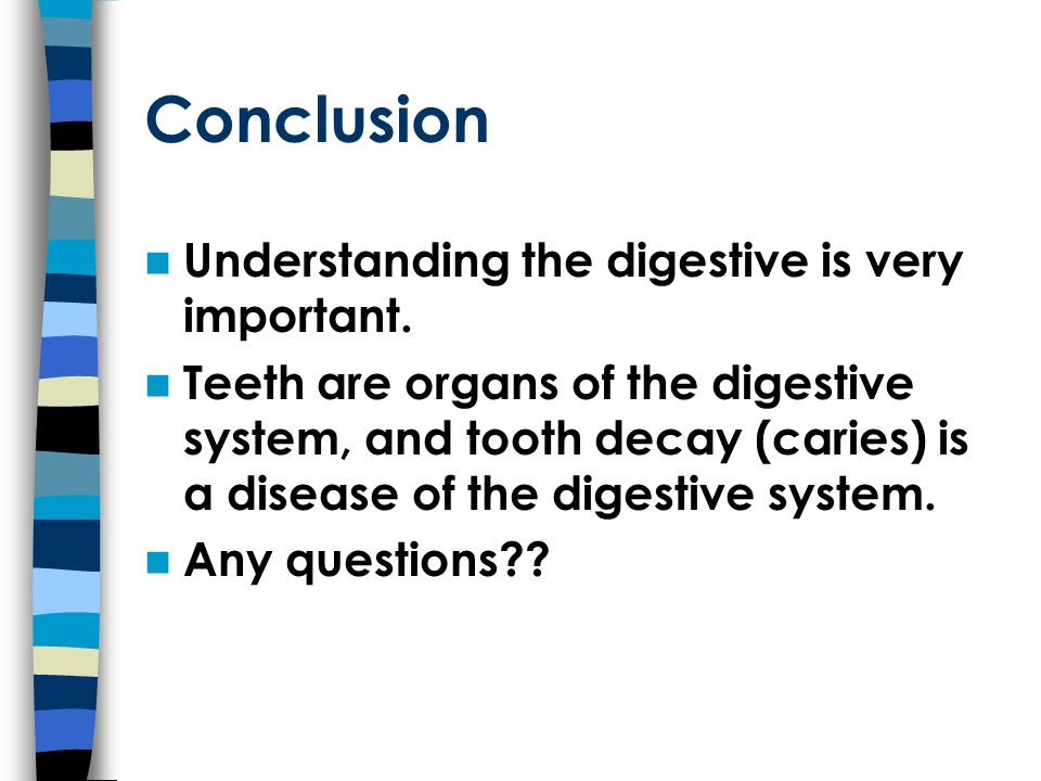 Conclusion Understanding the digestive is very important.