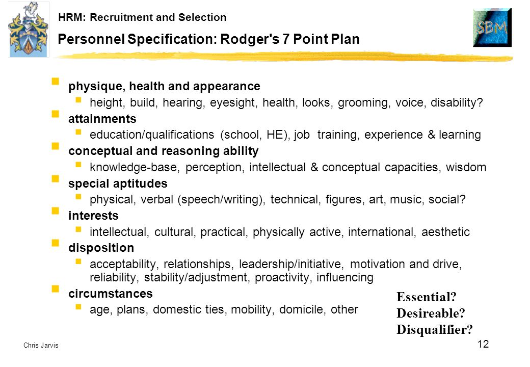 seven point plan alec rodger Lecture & discussion 2 parsonians model lecture, discussion & ppt 2 alec  rodger's 7-point plan model lecture, discussion & ppt 2 learning outcomes.