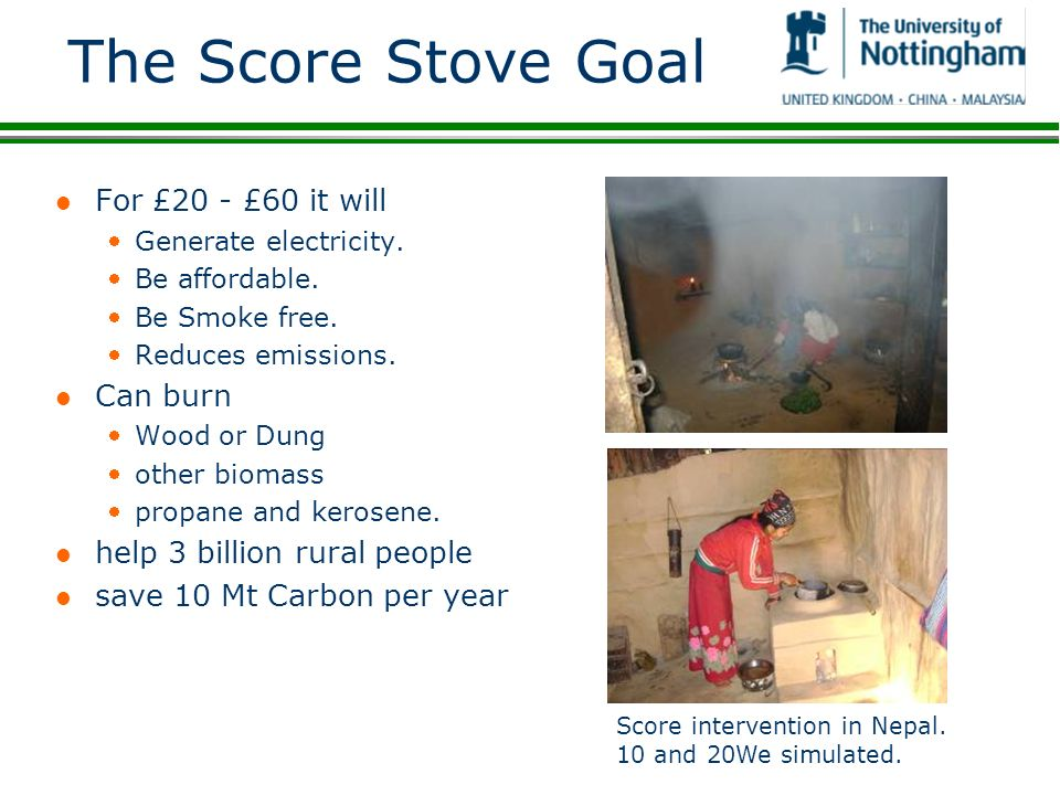 The Score Stove Goal For £20 - £60 it will Can burn