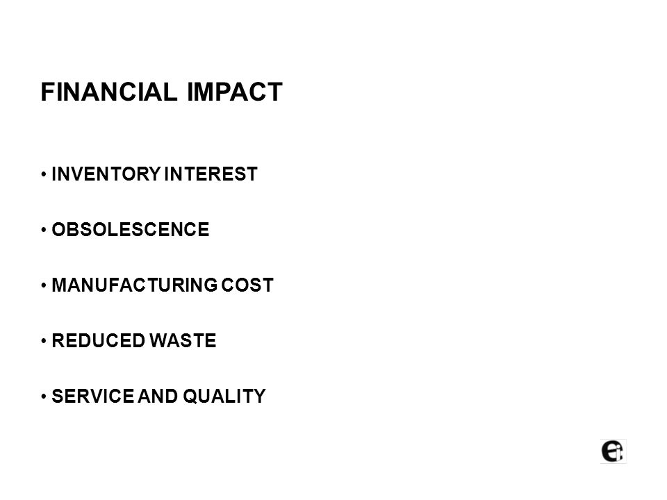 FINANCIAL IMPACT INVENTORY INTEREST OBSOLESCENCE MANUFACTURING COST
