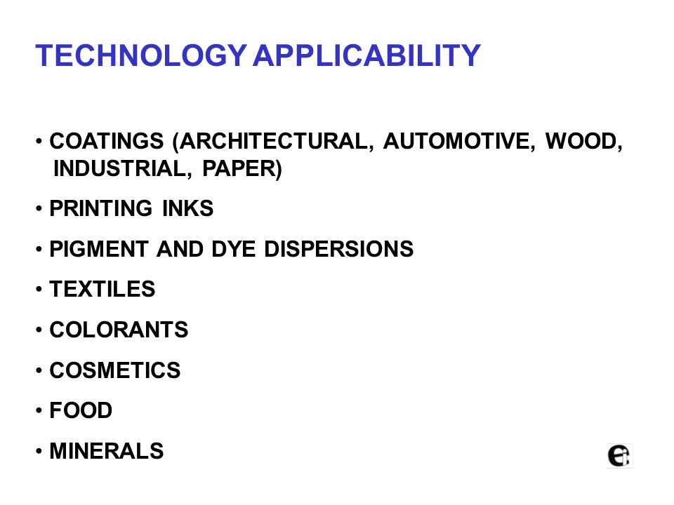 TECHNOLOGY APPLICABILITY