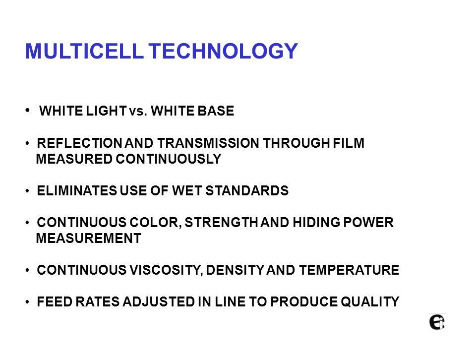 MULTICELL TECHNOLOGY WHITE LIGHT vs. WHITE BASE