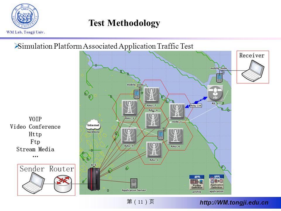 Test Methodology Simulation Platform Associated Application Traffic Test.