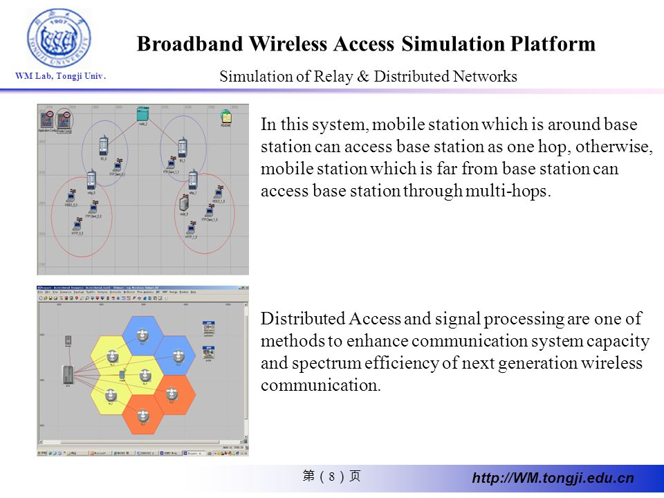 Simulation of Relay & Distributed Networks