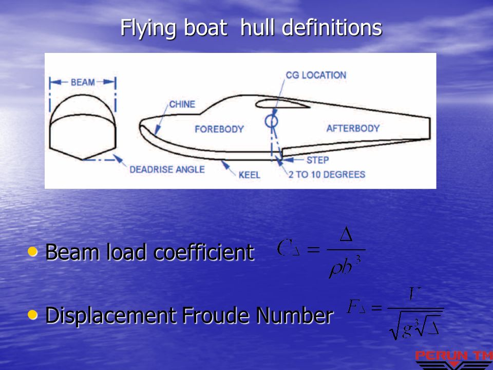 Flying boat hull definitions