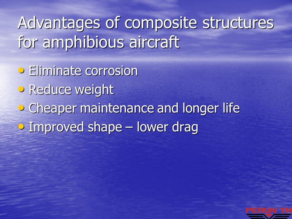 Advantages of composite structures for amphibious aircraft