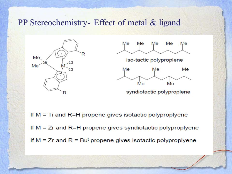 PP Stereochemistry- Effect of metal & ligand