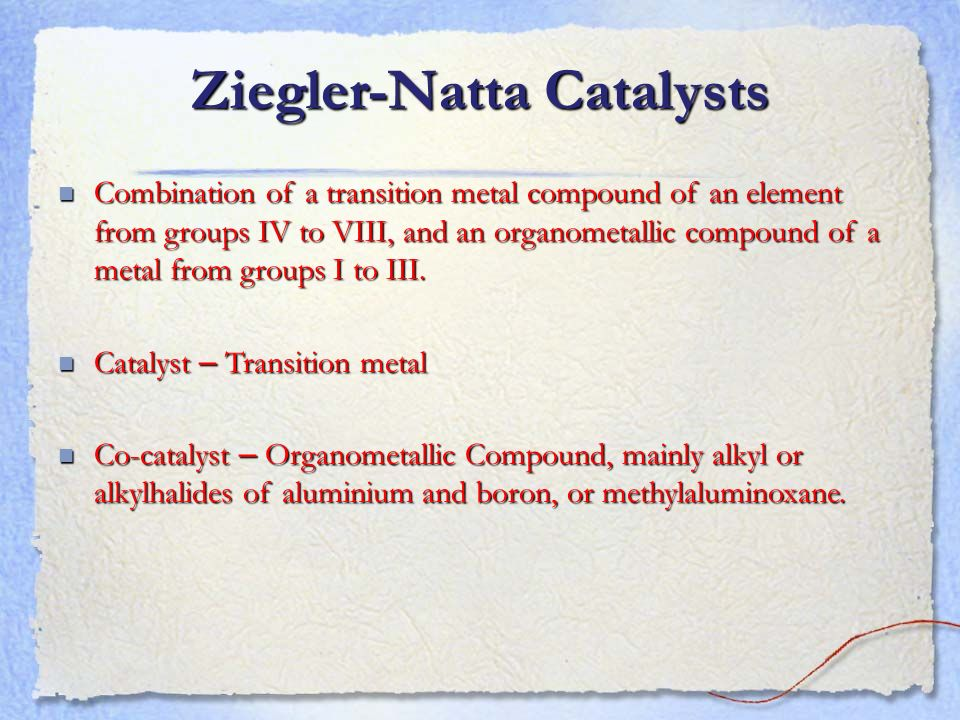 Ziegler-Natta Catalysts