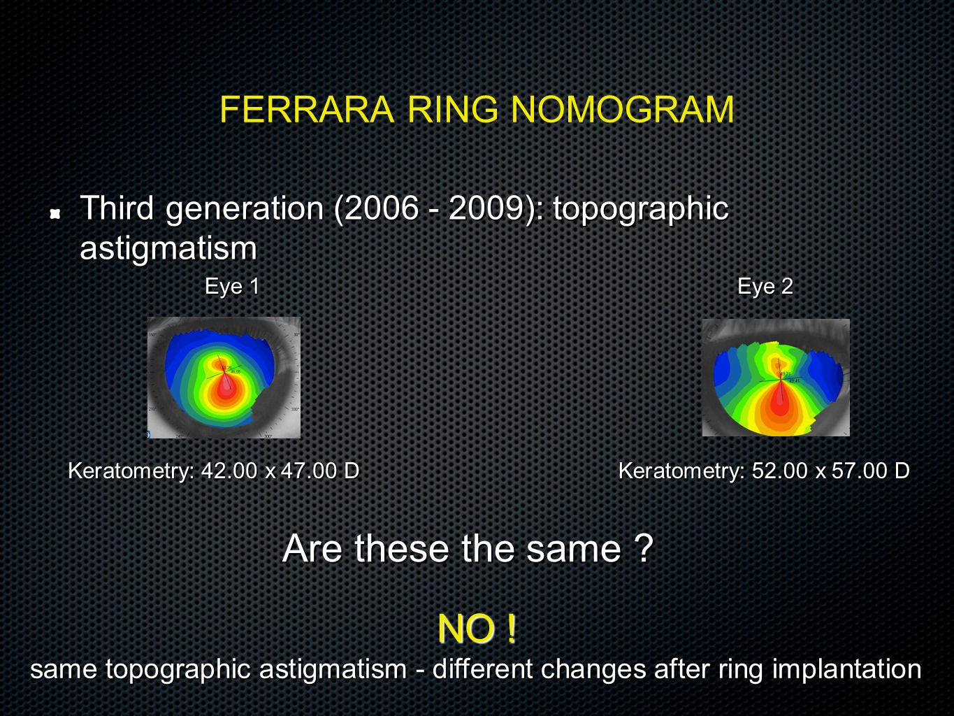 Are these the same NO ! FERRARA RING NOMOGRAM