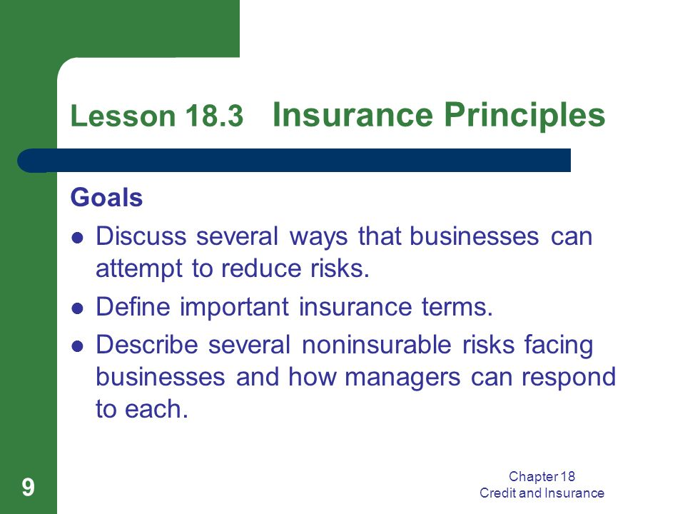 basic principles of insurance pdf