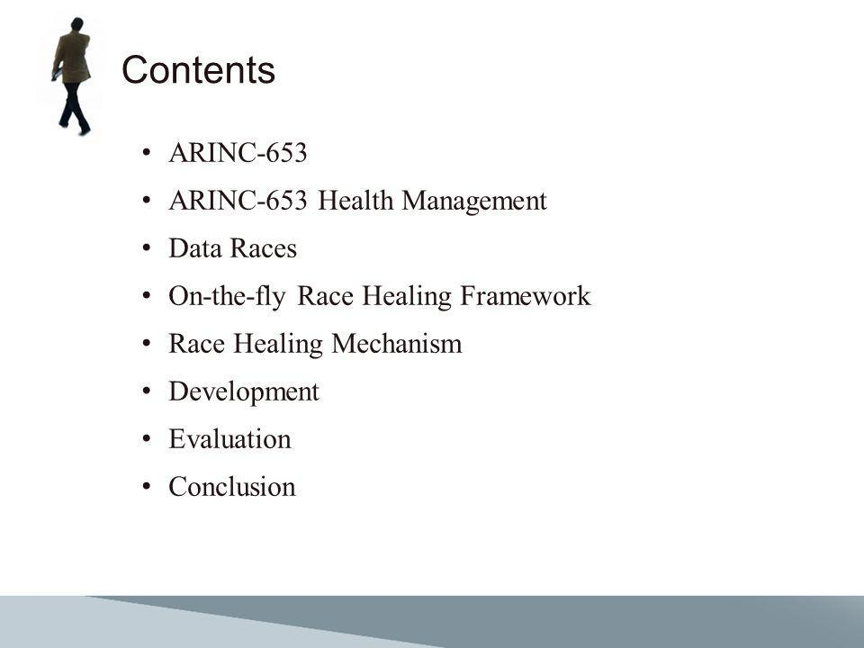 Contents ARINC-653 ARINC-653 Health Management Data Races