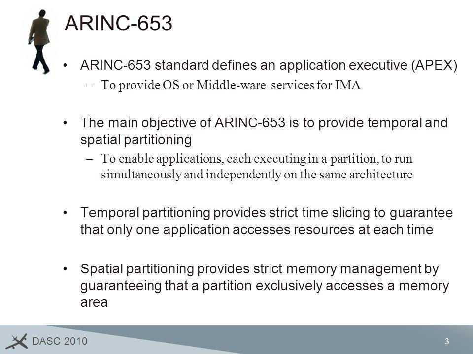 ARINC-653 ARINC-653 standard defines an application executive (APEX)
