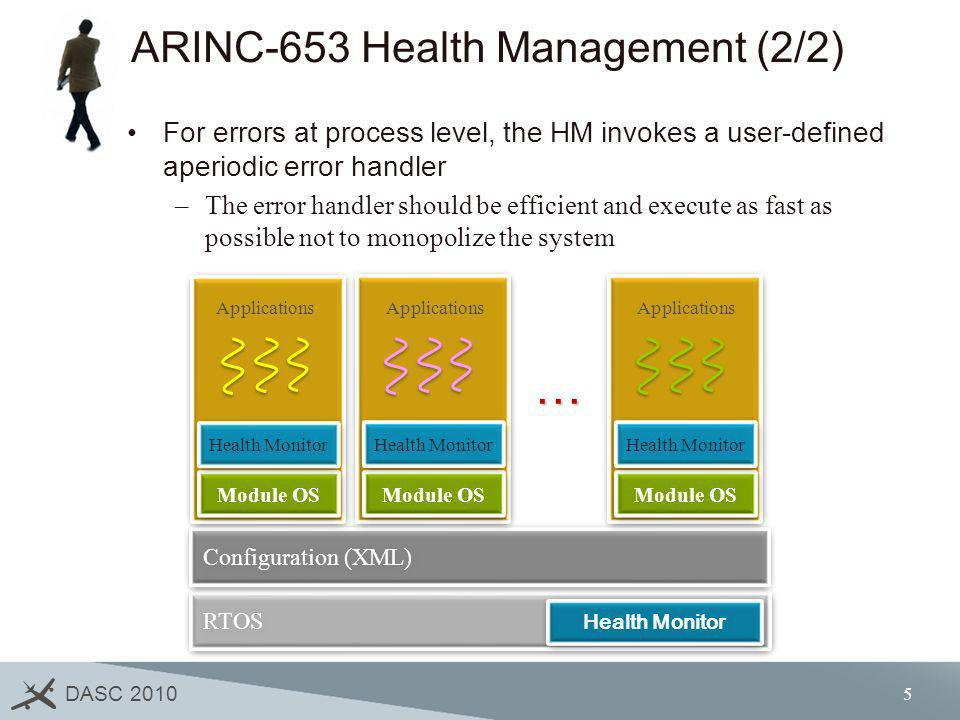 ARINC-653 Health Management (2/2)