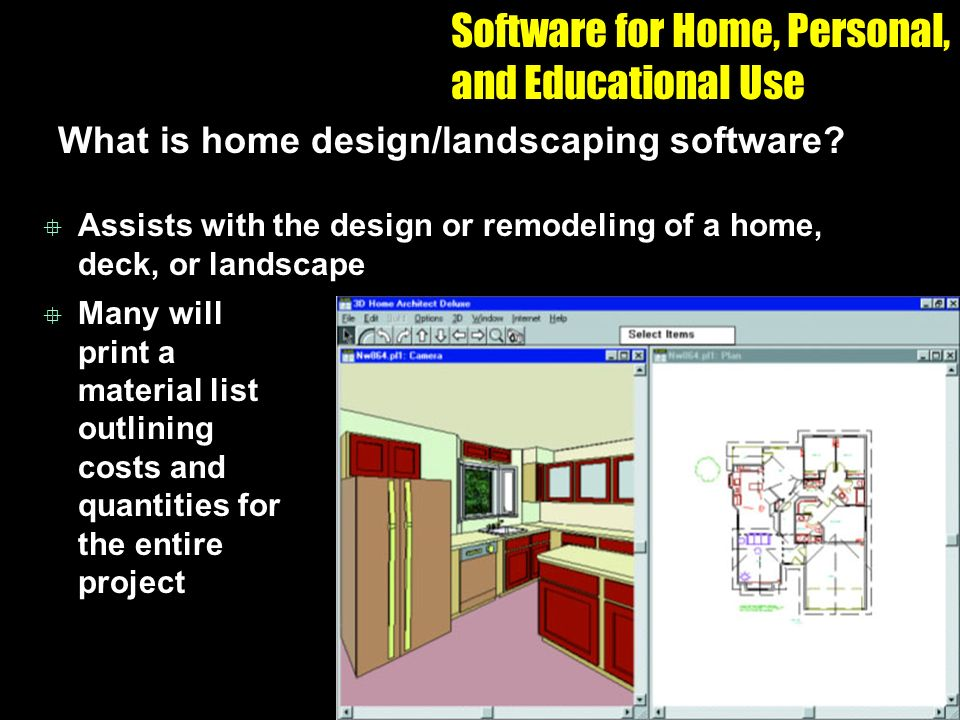 chapter 07 application software ppt video online download On personal home design software