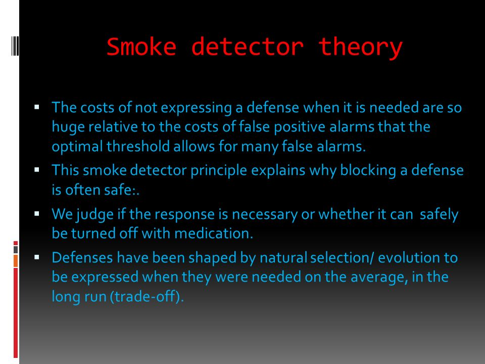 Smoke detector theory