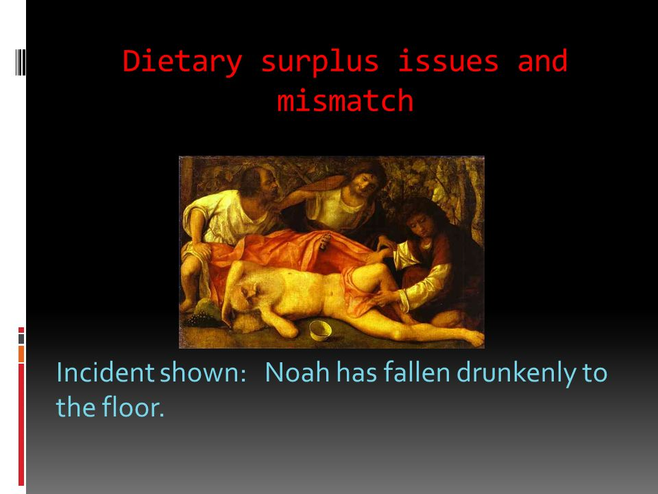 Dietary surplus issues and mismatch