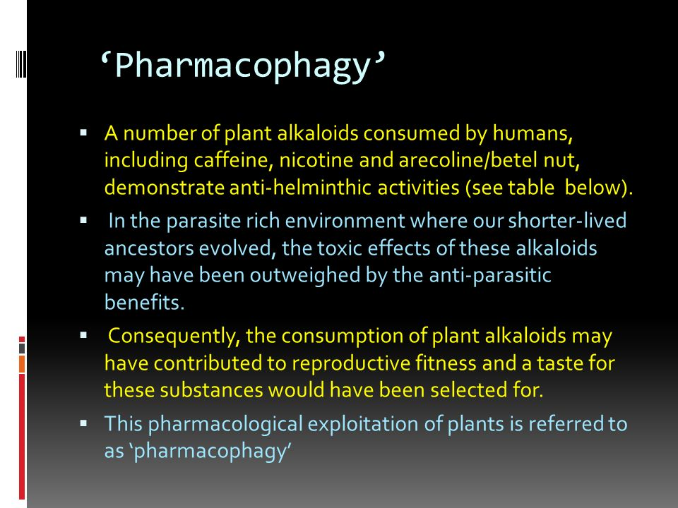 'Pharmacophagy'