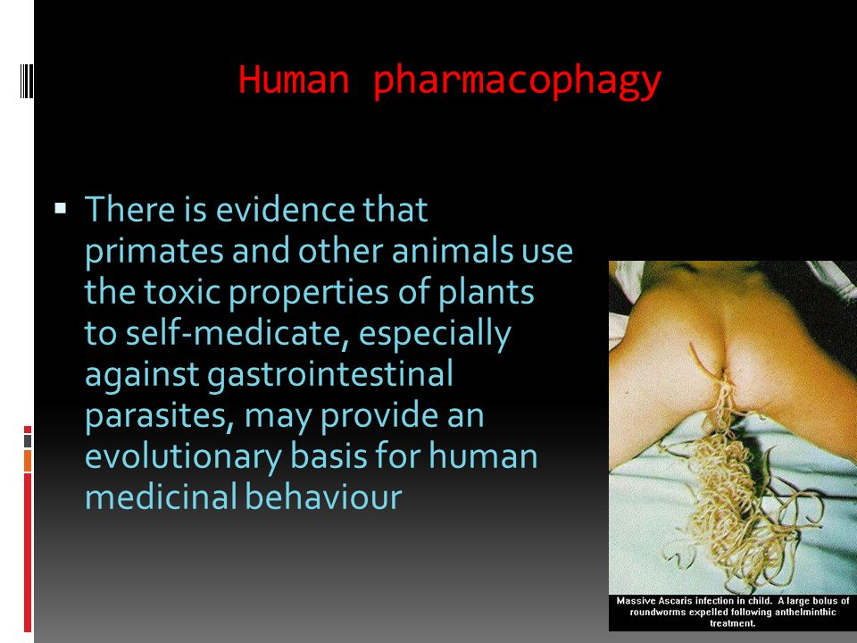 Human pharmacophagy