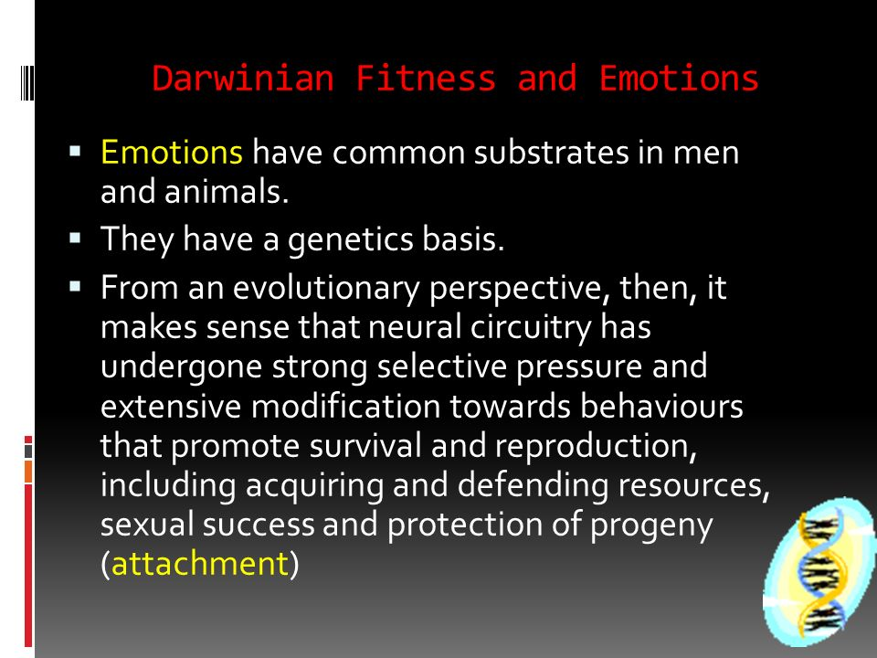 Darwinian Fitness and Emotions