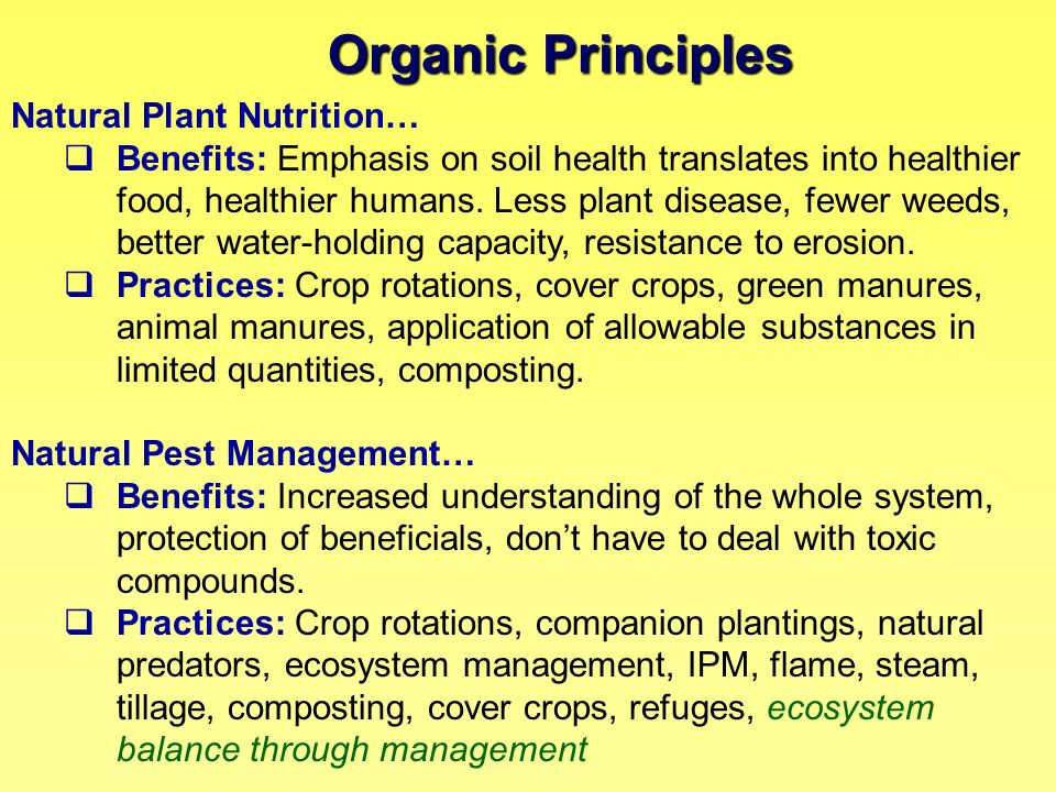 Organic Principles Natural Plant Nutrition…
