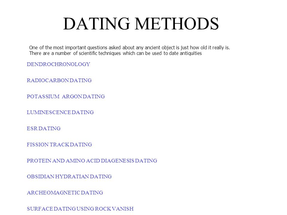 Everything Worth Knowing About ... Scientific Dating Methods