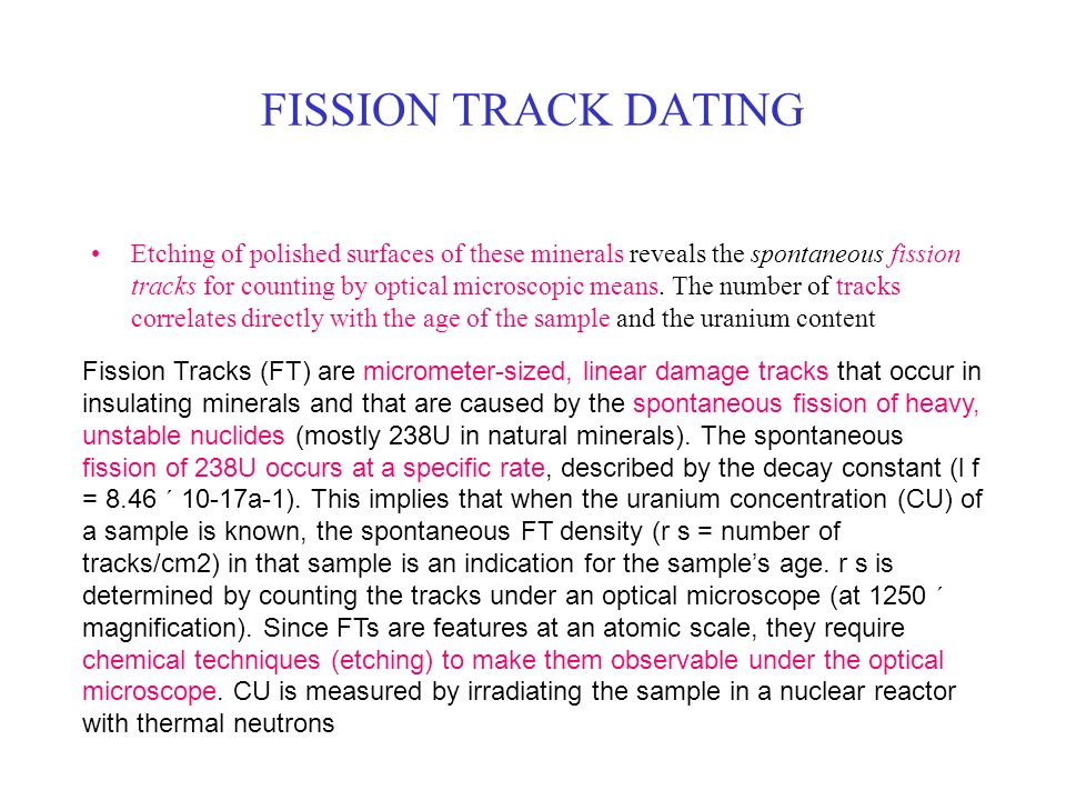 Fission track dating principles of management