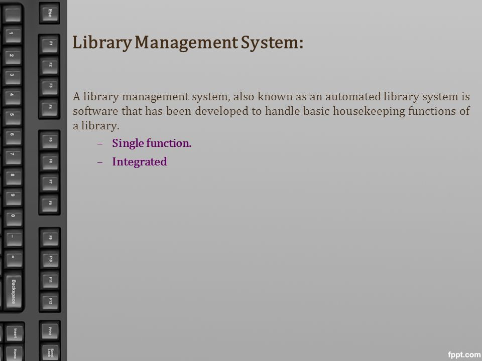 Library Management System: