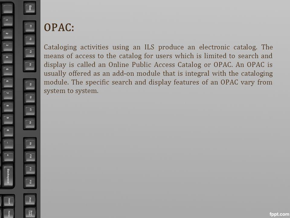 OPAC: