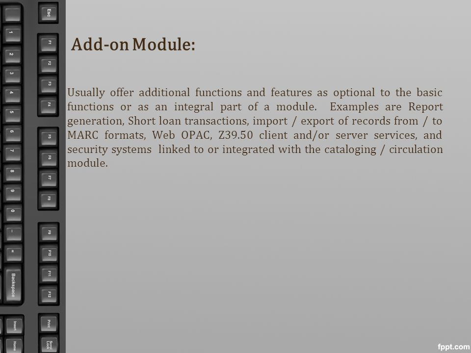 Add-on Module: