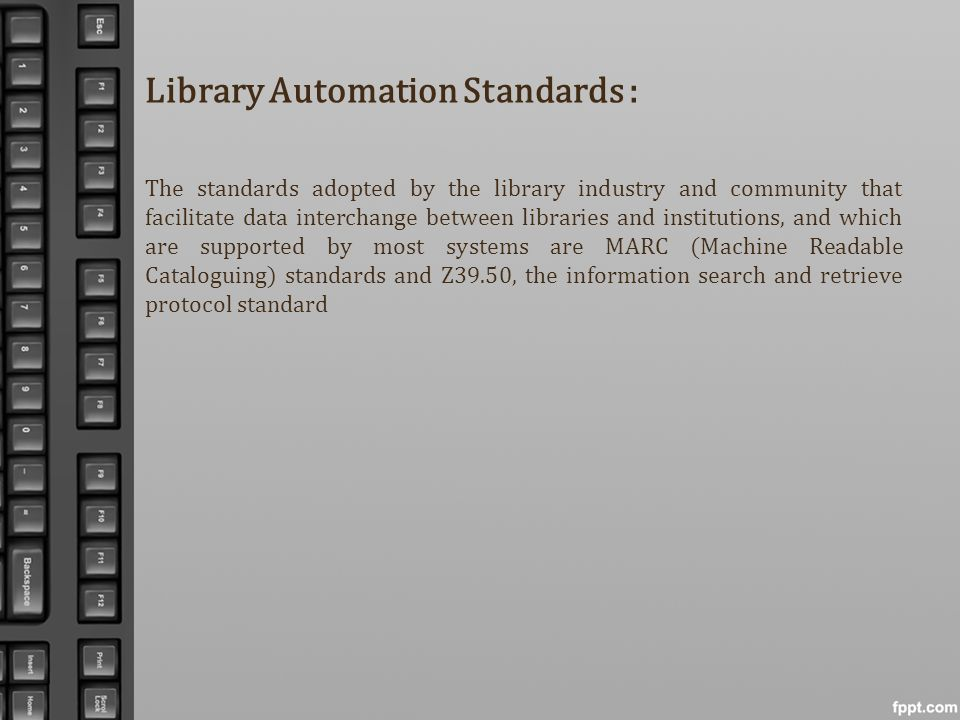 Library Automation Standards :