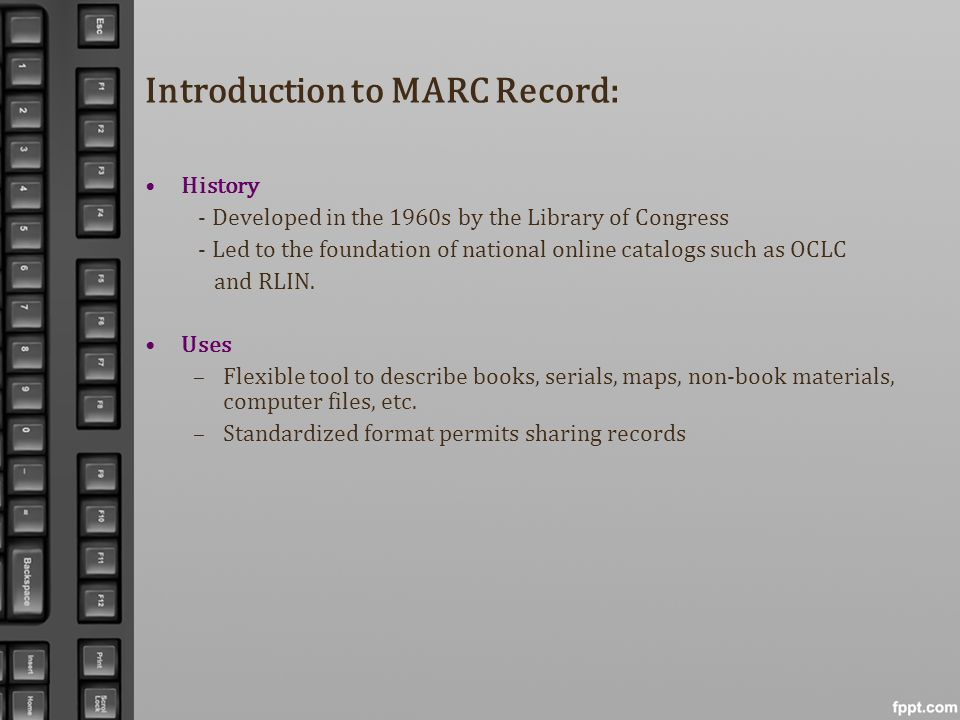 Introduction to MARC Record: