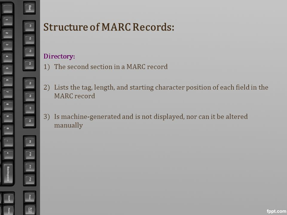 Structure of MARC Records:
