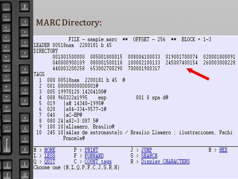 MARC Directory:
