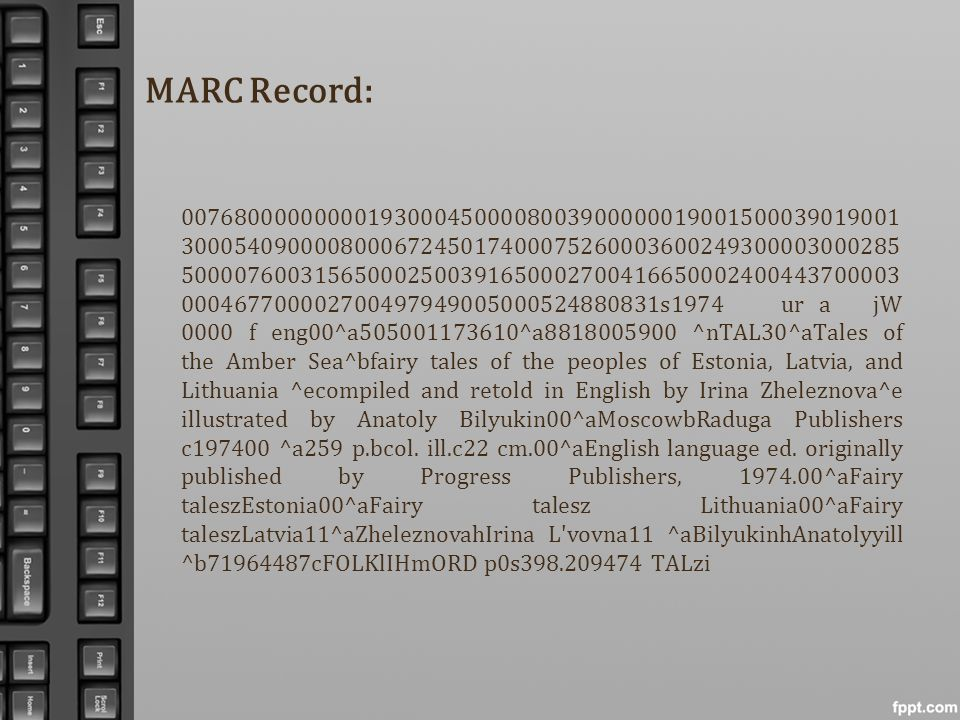 MARC Record: