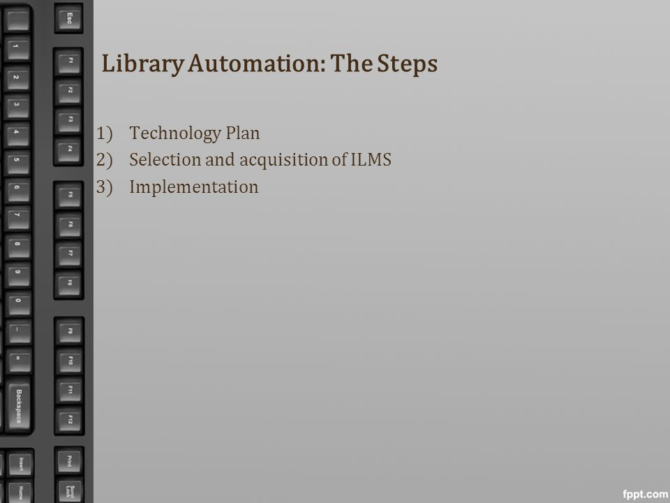 Library Automation: The Steps