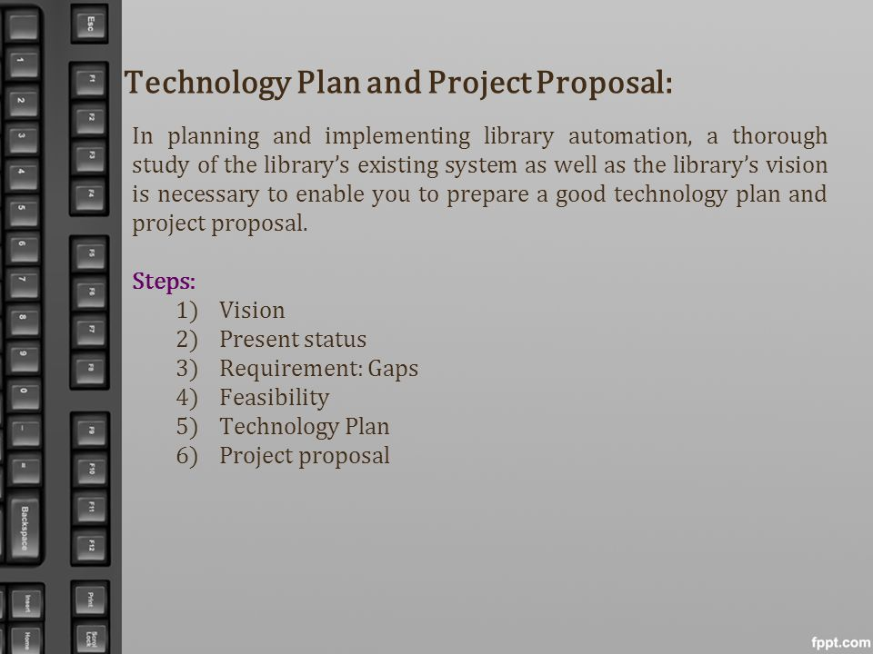 Technology Plan and Project Proposal: