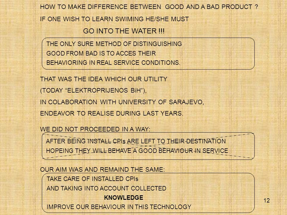 HOW TO MAKE DIFFERENCE BETWEEN GOOD AND A BAD PRODUCT