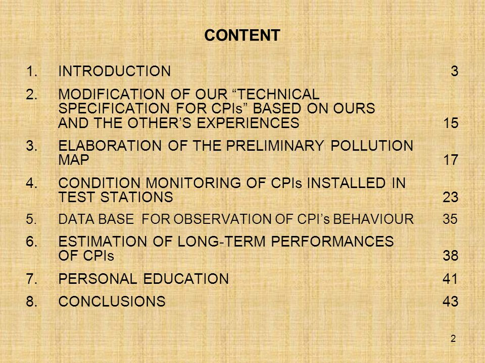 CONTENT INTRODUCTION 3.