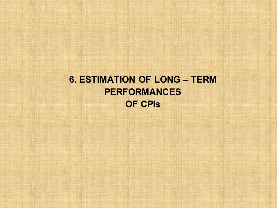 6. ESTIMATION OF LONG – TERM
