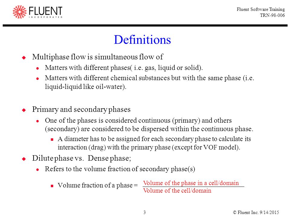 3 Definitions Multiphase ...