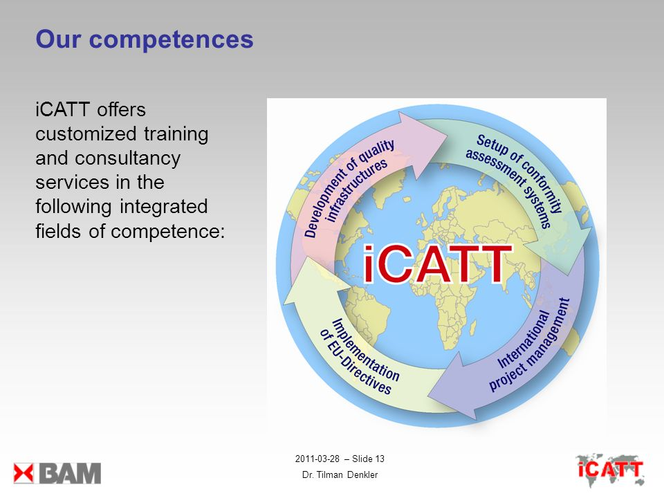 Our competences iCATT offers customized training and consultancy services in the following integrated fields of competence: