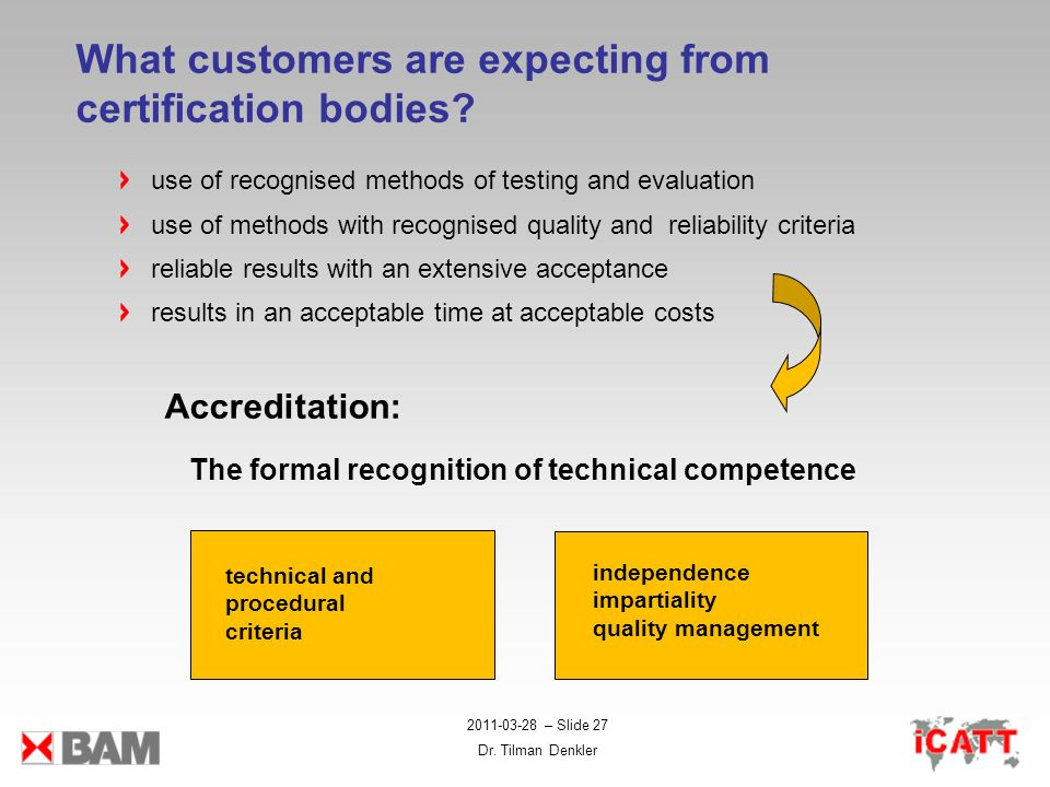 What customers are expecting from certification bodies