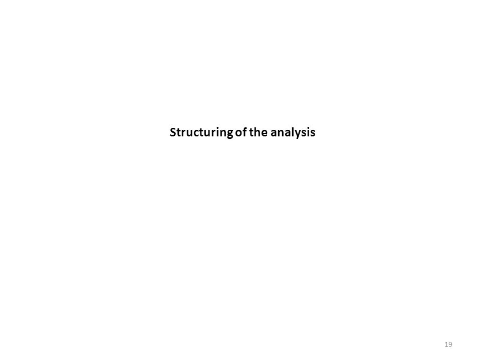 Structuring of the analysis