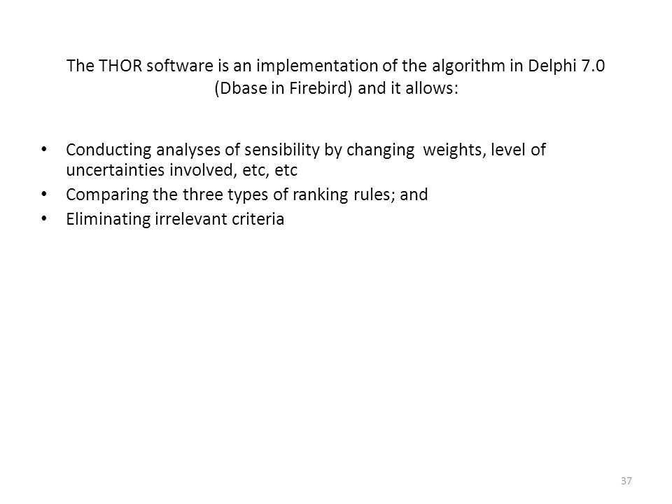 The THOR software is an implementation of the algorithm in Delphi 7